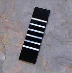 LIMITED EDITION MOP LINES IN DOUBLE BLACK LINEN 1/8 X 1 1/4 X 4 1/2 PAIR