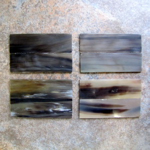 Buffalo Horn Translucent Slabs  3/16 x 1 1/2 x 5  Pair