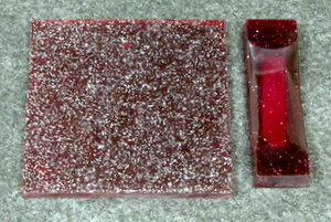 Polyester Magenta Sparkle 1/4