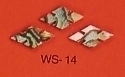 WS 14 Inlay Abalone Large Slotted Diamond (Bag of 25 Pcs.)