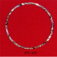 WS 329 Inlay Abalone Rosette 2mm x .060