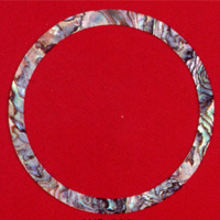 WS 332 Inlay Abalone Rosette 4mm x .060