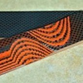 Carbon Fiber & G10 Hunter Orange 1 C/F & 2 G/10 Layering 1/8