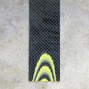 Carbon Fiber & G10 Yellow 1 C/F & 2 G/10 Layering 1/8