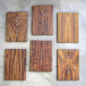 Desert Ironwood Book matched pairs 3/8 x 1 3/4 x 5