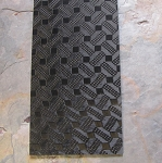 Carbon Fiber Geometric Stitch Pattern Top Layer With G10 Black Center 1/8 x 5 x 12