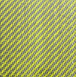 CARBON FIBER YELLOW & BLACK WEAVE 1/8 X 5 X 12