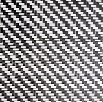 CARBON FIBER WHITE & BLACK WEAVE 1/8 X 5 X 12