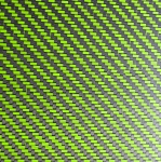 CARBON FIBER LIME & BLACK WEAVE 1/8 X 5 X 12