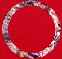 WS 333 Inlay Abalone Rosette 5mm x .060