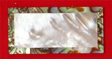 Ws-105 Mother Of Pearl & Green Abalone Blank .050 x 1  x 2